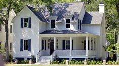 Historic farmhouse floor plans awesome country house plans with porches southern living house Southern Living House Plans, Country House Plans, Country Farmhouse, Victorian Farmhouse, Farmhouse Decor, Farmhouse Design, Country Decor, Porch House Plans, Best House Plans