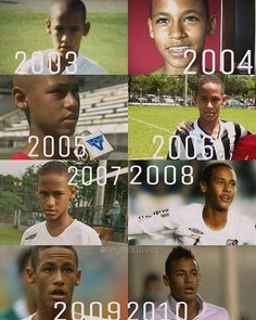Evolution of Neymar Jr part 1/2 Which year is your fav? #neymarlovez#neymarjr#neymar  Photo credit ig @neymarlovez