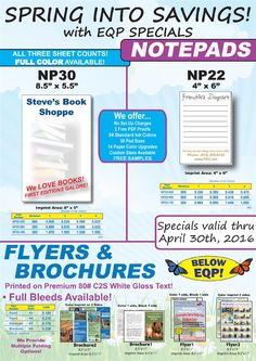 Spring into Savings with EQP Specials from Paper-Line!