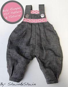 Shwin&Shwin: Baby Romper Free Pattern&Tutorial {Baby+Belly}