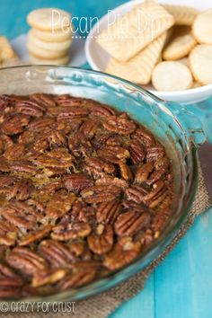 Pecan Pie Dip - like a pecan pie without the crust! Use it as a party dip with crackers or pie crust dippers!