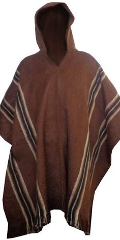 ec3ade0adc7664 Gamboa Alpaca Poncho - Hooded Brown at Amazon Men's Clothing store: Fashion  Hoodies