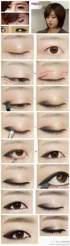 makeup, tutorial, and korean Bild