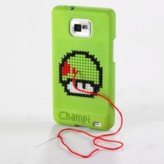 Cross Stitched Samsung Galaxy SII cover by Sculpteo - also, 12 mobile apps for stitchers