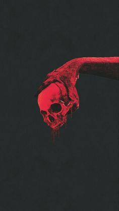 Skull Wallpaper, Red Wallpaper, Black Wallpaper Iphone Dark, Red And Black Wallpaper, Apple Wallpaper, Dark Fantasy Art, Dark Art, Aesthetic Iphone Wallpaper, Aesthetic Wallpapers