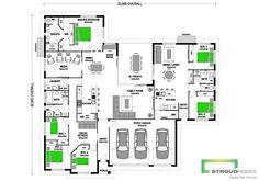 Add an attached granny flat to many of our new home designs for a fraction of the cost of building a stand-alone granny flat. Take a look at our house plans with attached granny flats. Guest House Plans, Family House Plans, New House Plans, Dream House Plans, House Floor Plans, Family Houses, House With Granny Flat, Granny Flat Plans, Stroud Homes