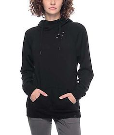Ninth Hall Kitzy Destructed Black Hoodie