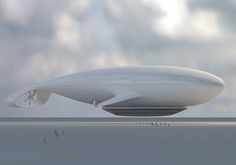 Manned Cloud. A cruise airship with a hotel for 40 passengers and 15 staff, by Jean-Marie Massaud.