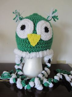 Owl Hat with Pompom Edging. Soft Luxurious  by Bluetulipgifts, $15.00