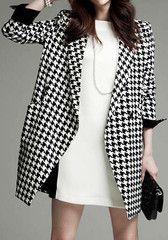 Dogtooth Oversize Coat - LookbookStore
