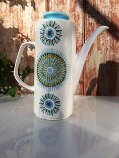 Items similar to Vintage J&G Meakin Studio Pottery coffee pot, 'Aztec' pattern / / Alan Rogers ceramic designer on Etsy Watering Can, Aztec, Pottery, Studio, Coffee, Unique Jewelry, Handmade Gifts, Etsy, Vintage