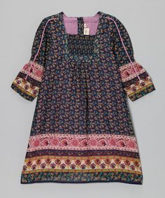 $20. Take a look at this Blue Floral Smocked Dress - Toddler & Girls by Yo Baby on #zulily today!