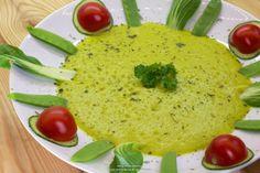 """Rohkost - Rezept für """"Ananas - Orangen - Petersilie - Suppe auf Bok Choy"""" (Vegan, Rohkost, 80-10-10)"""