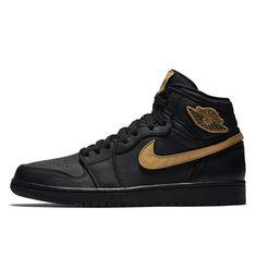 timeless design 3ed2e c8568 Affordable Air Jordan 1 Retro BHM Black History Month Basketball Shoes  Black Gold 908656-