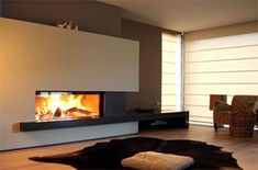 Kaminbau & Ofenbau in Oberpframmern bei München Stove Fireplace, Fireplace Wall, Fireplace Design, Foyers, Interior Design Living Room, Living Room Designs, O Gas, Rustic Contemporary, Modern Fireplace