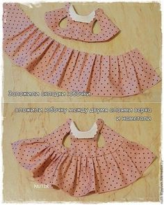 We sew a dress with a collar for a teddy bear – Ya … - Kindermode Sewing Doll Clothes, Sewing Dolls, Barbie Clothes, Diy Clothes, Dress Clothes, Dress Sewing, Puppy Clothes, Ag Dolls, Girl Dolls