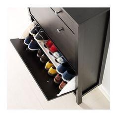 HEMNES Schuhschrank, 2fach - schwarzbraun - IKEA