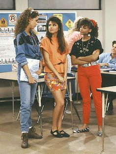 Saved By The Bell Kelly Kapowski, Jessie Spano, and Lisa Turtle