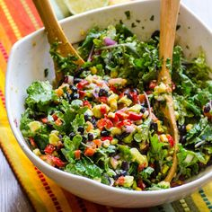 Healthy Creamy Mexican Kale Salad Recipe on Yummly