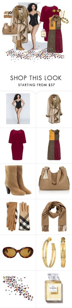 """Без названия #74"" by i-lilu ❤ liked on Polyvore featuring Cacique, Lovedrobe, Manon Baptiste, Isabel Marant, The Row, Burberry, Hermès, Acne Studios, Todd Reed and Tory Burch"