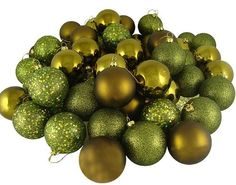 20 Christmas Ball Ornaments - 2.75'' by Gordon Companies, Inc. $45.00. Shipping Weight: 2.00 lbs. This product may be prohibited inbound shipment to your destination.. Please refer to SKU# ATR25773720 when you inquire.. Brand Name: Gordon Companies, Inc Mfg#: 30707943. Picture may wrongfully represent. Please read title and description thoroughly.. 20 Christmas ball ornaments/olive green/shiny, matte, glitter and sparkled/shatterproof/hangers included/2.75'' dia./70mm/made ...