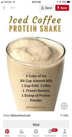 15 trendige Frühstückskaffee-Smoothie-Protein-Shakes - Healthy - HoMe Protein Smoothies, Protein Desserts, Protein Shake Recipes, Smoothie Drinks, Coffee Protein Smoothie, Protein Milkshake, 310 Shake Recipes, Yummy Drinks, Healthy Drinks