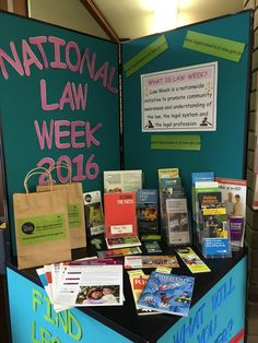 Law Week 2016.  Display at Wingecarribee Library
