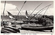 Fishermen on Lake Victoria, East Africa Tanzania, Kenya, Seafarer, East Africa, Sailing Ships, Postcards, Childhood, Politics, Victoria