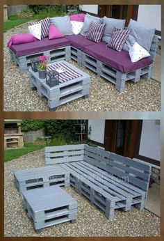 pallet furniture blueprints Source by petramiotke Pallet Furniture Blueprints, Pallet Garden Furniture, Outdoor Furniture Plans, Reclaimed Wood Furniture, Furniture Ideas, Barbie Furniture, Furniture Design, Furniture Movers, Diy Furniture From Pallets