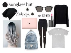"""""""School Style #68 Shades of You: Sunglass Hut Contest Entry"""" by paola200 ❤ liked on Polyvore featuring Pink Tartan, Topshop, Le Métier de Beauté, Lulu*s and shadesofyou"""