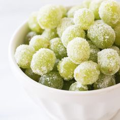 Grapes soaked in champagne, then rolled in SUGAR! #genuis