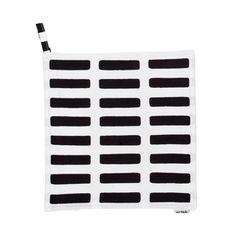 Artek - Siena Topflappen, weiß/ schwarz, Einzelabbildung