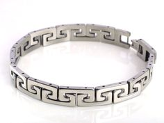 New silver Mens cool stainless steel chain Braclet link Bangle wristband Fashion #Ino #Fashionbracelet