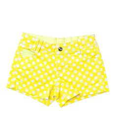 Look at this Neon Yellow Polka Dot Shorts - Toddler & Girls on #zulily today!