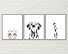 PERSONALISED Dalmatian Dog Word Art Wall Print Gift Idea Birthday Puppy Family