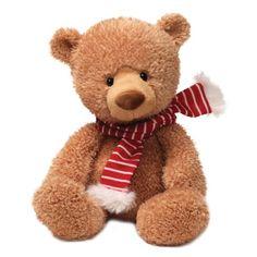 "Gund Fun Christmas Noggin Tan Bear 13"" Plush"
