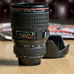 Camera Lens Mug, my photojournalism teacher would maybe give me an A for this holiday gift?
