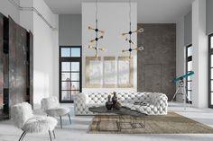 Pomysł na salon w stylu loftowym