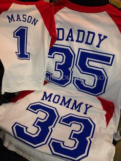 CUSTOM Family Raglan Set Mommy Daddy and by MyGlamBoutique