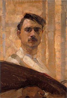 Self Portrait, Nikolaos Lytras (Greek painter, Figure Painting, Painting & Drawing, Encaustic Painting, Greek Art, Paintings I Love, Portrait Art, Portrait Paintings, Figurative Art, Monet