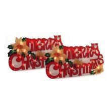 Merry Christmas Window Sign Set