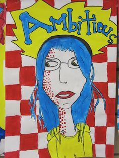 I like how this combines onomatopoeia with self portraits. Too complicated? Lake and Hartville Elementary Art: Grade Pop Art Style Portraits Self Portrait Art, Pop Art Portraits, Portrait Ideas, Art Education Lessons, Art Lessons Elementary, Marker, 6th Grade Art, Fourth Grade, Sixth Grade