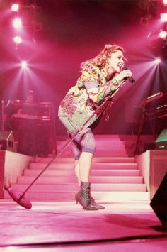 80's She had the best concert performances! Madonna (our Queen)