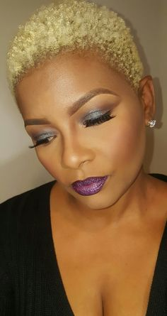 Blonde ambition Black Hair Afro, Short Grey Hair, Short Blonde, Gray Hair, Short Hair Styles, Blonde Afro, Afro Hairstyles, Natural Hairstyles, Haircuts