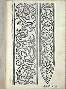 Libro quarto. De rechami per elquale se impara in diuersi modi lordine e il modo de recamare...Opera noua, page 7 (recto)