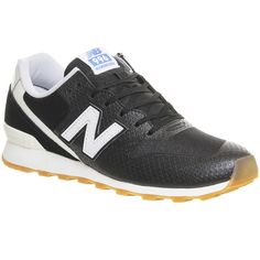 New Balance 996 ($91) ❤ liked on Polyvore featuring shoes, sneakers, black white, hers trainers, trainers, new balance trainers, new balance sneakers, white and black shoes, black white sneakers and lightweight shoes