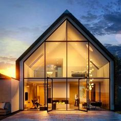 Modern Barn House, Modern House Design, House Architecture Styles, Modern Architecture, Computer Architecture, Fashion Architecture, Exterior Tradicional, 3d Architectural Visualization, 3d Visualization