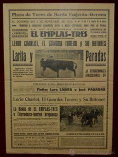 CARTEL TAURINO DEL AÑO 1930 PLAZA DE TOROS DE SANTA EUGENIA - GERONA