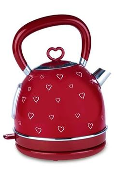 Buy heart kettle from the Next UK online shop Kitchen Tops, Red Kitchen, Kitchen Things, Small Appliances, Kitchen Appliances, Kitchen Gadgets, Red Cottage, Kitchen Collection, Next Uk