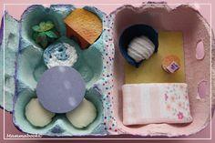 Casetta in una scatola delle uova by  Mammabook